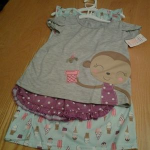 Carters Just one you 3 pc Sleep set Size 4T New